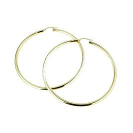 Orecchini da donna in oro giallo a cerchio lisci Codice:  O2217G