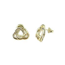 Orecchini da donna in oro giallo con triplo cuore Codice:  O2014BGR