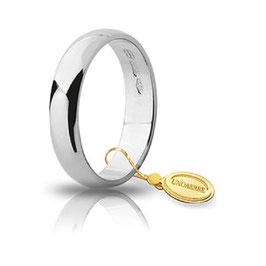 Fede Unoaerre Classica Oro Bianco 4 grammi  4,3 mm fascia larga Referenza: 40 AFN6B