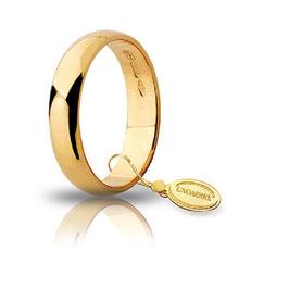 Fede Unoaerre Classica Oro Giallo  4 GR  4,3 mm fascia larga Referenza: 40 AFN6