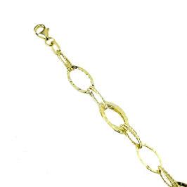 Bracciale donna oro 18 kt catena con maglie ovali martellato codice: BR926G