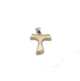 Croce Tao in oro bicolore Referenza: IS1477BG