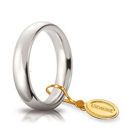 Fede Unoaerre  Comoda 4,0 mm Oro Bianco da gr 5,9 a 6,9 40 AFC 1