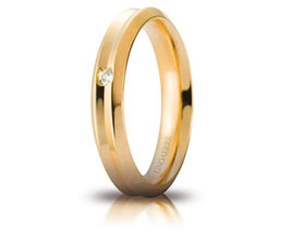 Fede Nuziale Unoaerre Corona in Oro Giallo con diamante Referenza 40AFC278/001