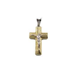 Crocifisso in oro bicolore Referenza: IS1455G
