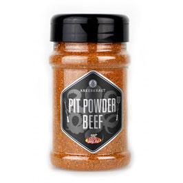 Pit Powder Beef, Brisket Rub, 200gr im Streuer