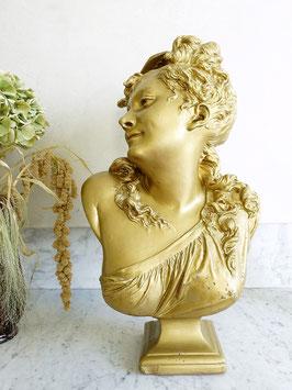 Antike Jugendstil Damen Büste Skulptur aus Ton 59cm Frankreich 1900