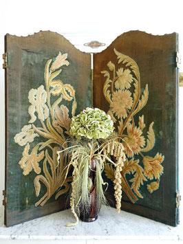 Antiker Paravent Raumteiler Frankreich 1870 Shabby 4tlg