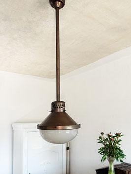 Antike Industrielampe Werkstattleuchte England 1920
