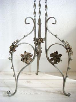 Antiker Jugendstil Ständer Tischfuß Schmiedeeisen um 1890