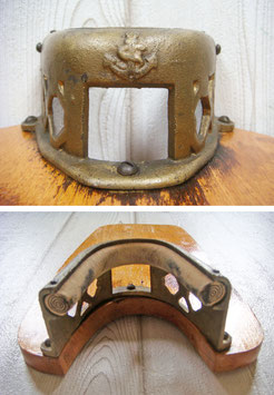 Antiker Stiefelknecht der Marine Holz & Messing