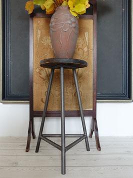 Vintage Industrie Werkstatthocker Barhocker Metall & Holz 62cm