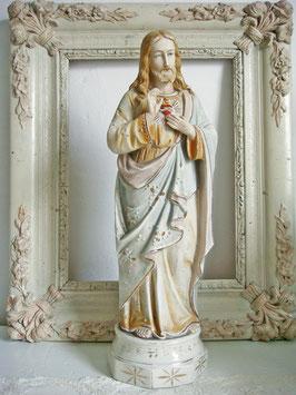 Antike Jesus Heiligenfigur Porzellan 1900