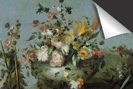 Blumenstrauss auf blau-Induktionsschutz