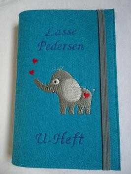 U-Hefthülle Elefant mit Herzen