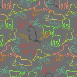 Jersey - Panther  grau/neon