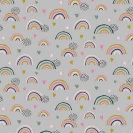 Jersey - Regenbogen grau