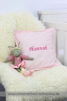 Kissen rosa mit Namen