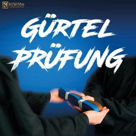 Gürtelprüfung zu den Schülergraden 2. Kyu (blau-braungurt) und 1. Kyu (braungurt) im Karate, Krav Maga & Kickboxen