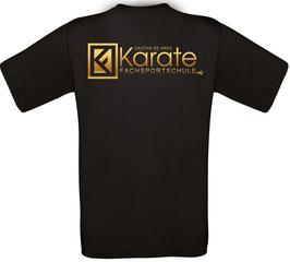 KARATE T-SHIRT black (mit Karate Fachsportschulen Logo)