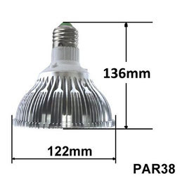 18W LED Pflanzenlampe Full Spektrum, E27 Fassung