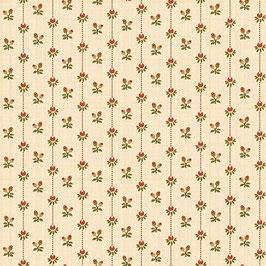 Hello Fall - rigato con fiorellini beige