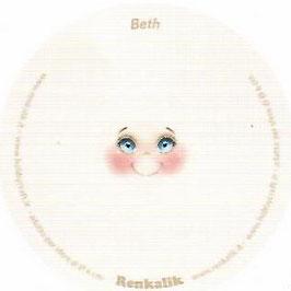 """Viso stampato su maglina """"Beth"""""""