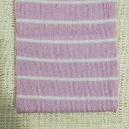 Tubolare maglina base rosa righe bianche