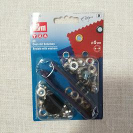 Occhielli 5mm argento
