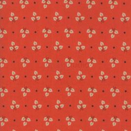 101 Maple Street - tre foglie fondo rosso