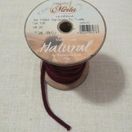"""Cipiglia by """"I Nastri Di Mirta"""" - Nastro tubolare bordeaux 1cm"""