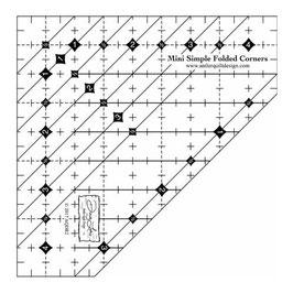 Mini Simple Folded Corners Ruler by Doug Leko