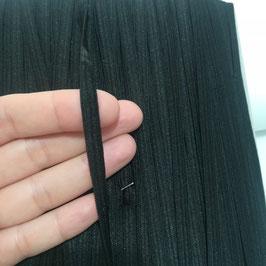 Elastico piatto nero per mascherine - taglio da 5 mt