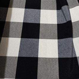 Tessuto quadri 5 cm nero