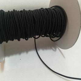 Elastico tubolare nero - taglio da 5 mt