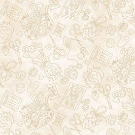 Piccole cose - Oggettini cucito sul beige