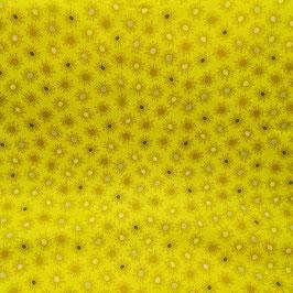 Modern Foglie - soffioni giallo con pallini colorati