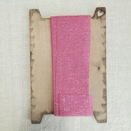 """Nastro divin cencioso by """"I nastri di Mirta"""" colore rosa glitter."""