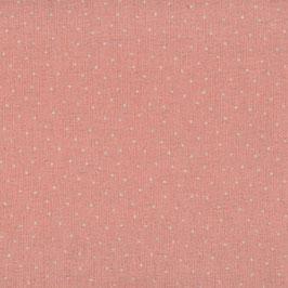 Misto lino shabby chic - albicocca con puntino lino