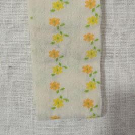 Tubolare maglina bianco stampa fiorellini