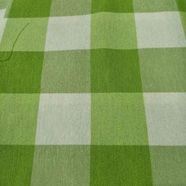 Tessuto quadri 5 cm verde