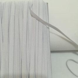 Elastico piatto bianco per mascherine - taglio da 5 mt