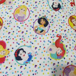 Tessuti Baby - principesse Disney coriandoli