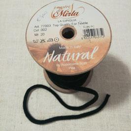 """Cipiglia by """"I Nastri Di Mirta"""" - Nastro tubolare nero 1cm"""