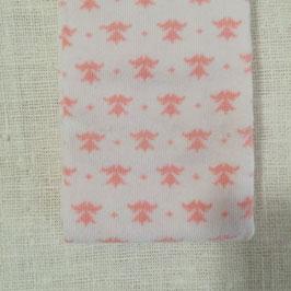 Tubolare maglina bianco stampa fantasia rosa