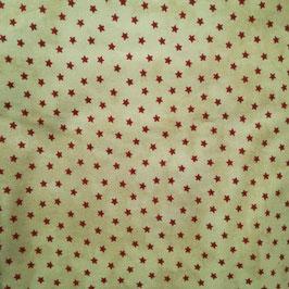 Basici - stelline rosse fondo beige