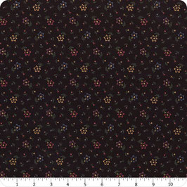 TTY - Fondo nero fiorellini colorati