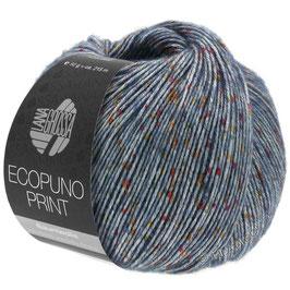 LANA GROSSA Ecopuno Print - Colore 102 (blu)