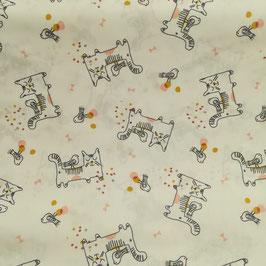 Tessuti baby - Gatti fondo bianco