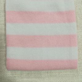 Tubolare maglina righe bianche e rosa